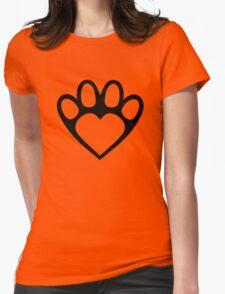 Paw Prints On My Heart in Black T-Shirt