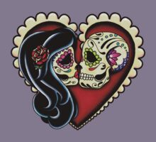 Ashes - Day of the Dead Couple - Sugar Skull Lovers Kids Tee