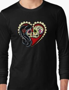 Ashes - Day of the Dead Couple - Sugar Skull Lovers Long Sleeve T-Shirt