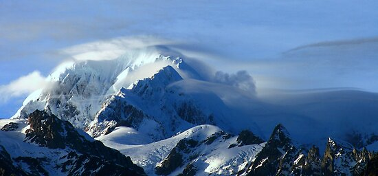 mt tasman III  fox glacier south westland  nz  by rina  thompson
