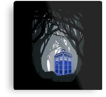 Space And Time traveller Box lost in the woods Metal Print