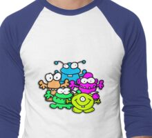 Positive Monsters are Awesome! Men's Baseball ¾ T-Shirt