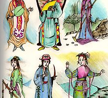 Assorted Characters From Chinese Folklore ( Hangzhou ) by John Dicandia  ( JinnDoW )