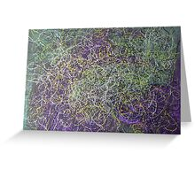 """Entanglement"" original abstract artwork by Laura Tozer Greeting Card"