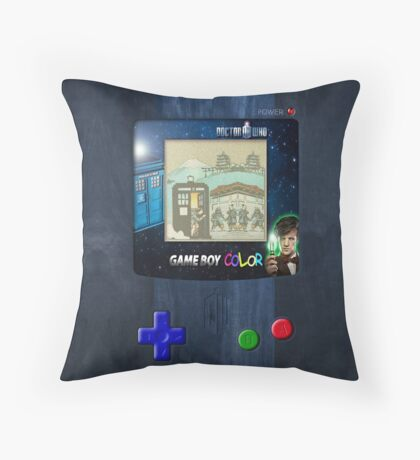 Space And Time traveller Gameboy special edition Throw Pillow