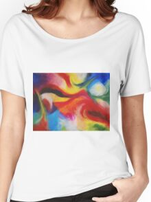 """""""Fiesta Nocturna"""" original abstract landscape by Laura Tozer Women's Relaxed Fit T-Shirt"""