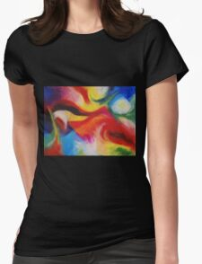 """""""Fiesta Nocturna"""" original abstract landscape by Laura Tozer Womens Fitted T-Shirt"""