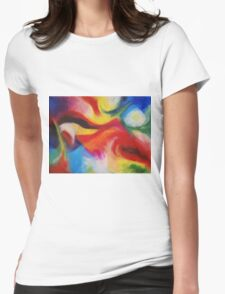 """Fiesta Nocturna"" original abstract landscape by Laura Tozer Womens Fitted T-Shirt"