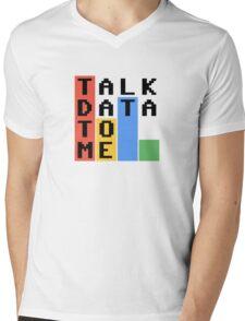 Talk Data To Me Mens V-Neck T-Shirt