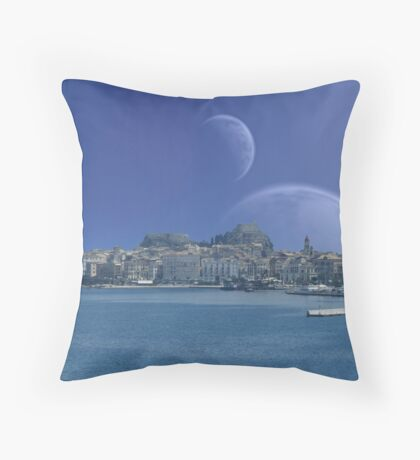 Hellsea Fortress - Earthsea Throw Pillow