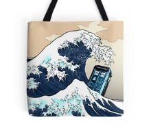 Space And Time traveller Box Vs The great wave Tote Bag