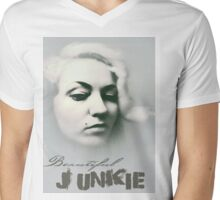 Beautiful Junkie Mens V-Neck T-Shirt