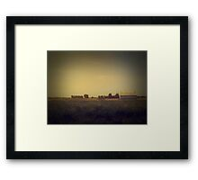 it's faded... it's all just faded and turning to dust Framed Print