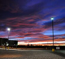 sunrise at work,winslow az by gene mcfarland
