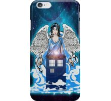 The angel has a phone box iPhone Case/Skin