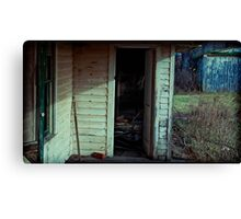 what's he doing in there? Canvas Print