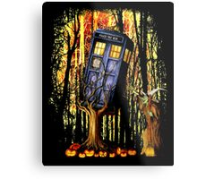 Haunted Blue Phone Box captured By witch Metal Print
