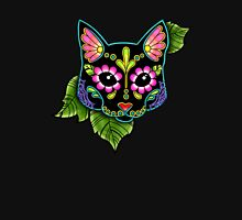 Day of the Dead Cat in Black Sugar Skull Kitty Unisex T-Shirt