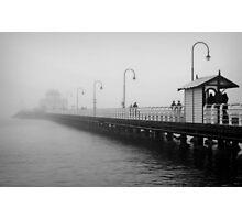 Shrouded in Fog..St.Kilda Pier Photographic Print