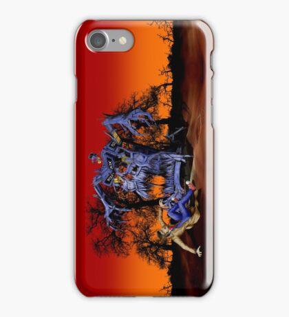 Weird Cursed British blue Phone box Monster iPhone Case/Skin