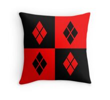 Harley Quinn Pattern Throw Pillow