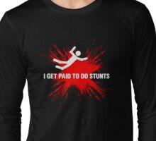 Professional Stuntman/Stuntwoman Shirt (White&Red) Long Sleeve T-Shirt