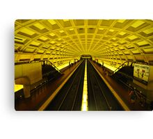 Gold Tunnel in D.C. Canvas Print