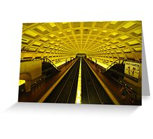 Gold Tunnel in D.C. Greeting Card