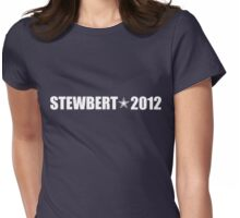 Stewbert 2012 White A Womens Fitted T-Shirt