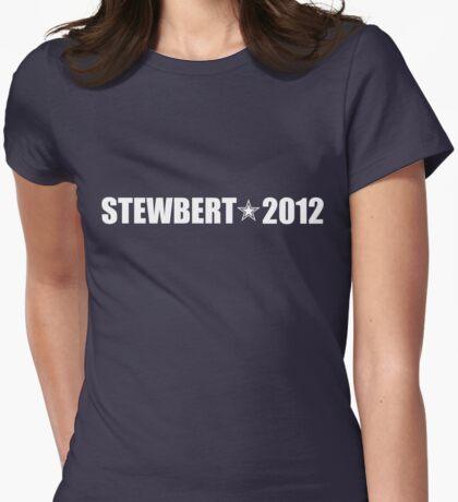 Stewbert 2012 White A Womens Fitted T-Shirt