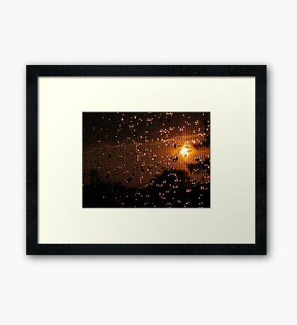 Screened Framed Print