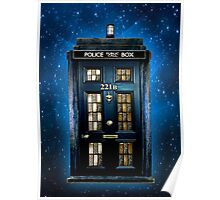 Space Traveller Box with 221b number Poster