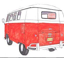 red van cutout by maximilian smoot