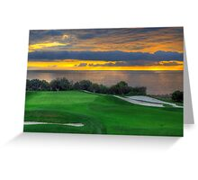 The 11th Green Greeting Card