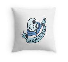 Lazybones - Comic SANS Throw Pillow