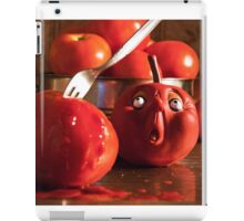 TOMATO FUNNY FOOD CRIME MURDER  iPad Case/Skin