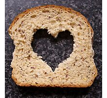 heart in bread  Photographic Print