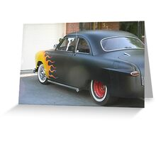 Hot Wheels Flame Car Greeting Card