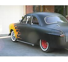Hot Wheels Flame Car Photographic Print