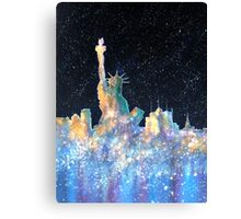 Liberty And New York Cosmos Canvas Print