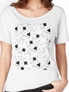 Retro Shapes Pattern Women's Relaxed Fit T-Shirt
