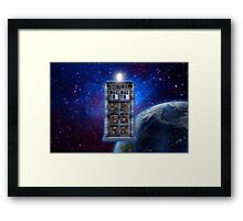 Time and Space travel Steampunk machine Framed Print