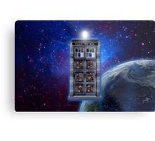 Time and Space travel Steampunk machine Metal Print