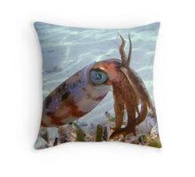 Caribbean Reef Squid in Dry Tortugas Throw Pillow
