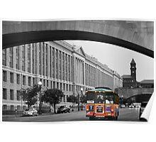 Bus Traveling Through D.C. Poster