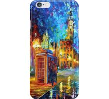 Sherlock Phone booth and Big ben art painting iPhone Case/Skin