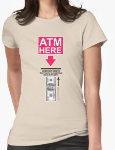 ATM Halloween Costume Womens Fitted T-Shirt