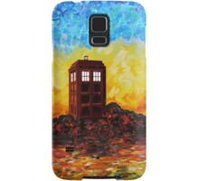 Time travel Phone booth in the Twilight zone art painting Samsung Galaxy Case/Skin
