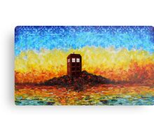 Time travel Phone booth in the Twilight zone art painting Metal Print