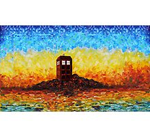 Time travel Phone booth in the Twilight zone art painting Photographic Print